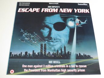 ESCAPE FROM NEW YORK (Laserdisc) John Carpenter