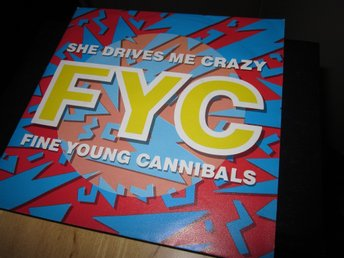 "FINE YOUNG CANNIBALS ""She drives me crazy"" vinyl singel."
