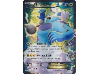 Thundurus EX - 98/108 - Full Art Ultra Rare XY: Roaring Skies