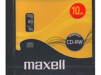 CD-RW 80 Maxell Rewritable CD-Rom 10-pack