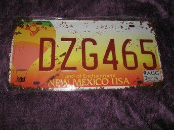 USA REGISTRERINGSSKYLT NEW MEXICO USA (EJ ORGINAL) NY INPLASTAD - Katrineholm - USA REGISTRERINGSSKYLT NEW MEXICO USA (EJ ORGINAL) NY INPLASTAD - Katrineholm