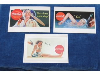 3 st Coca Cola Postcards från 1996