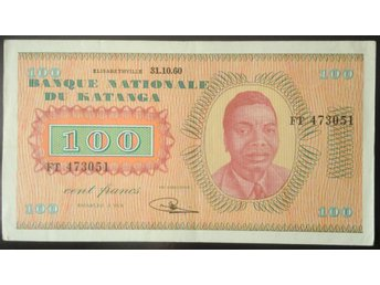 100 CENT FRANCS BANK NATIONALE DU KATANGA 31/10 1960