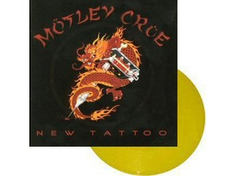 Mötley Crue -New tattoo LP yellow vinyl with 5 band pictures
