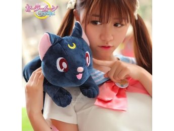 "8"" Anime Sailor Moon Luna Cat Soft Plush Tissue Napkin Box"