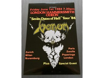 VENOM SEVEN DATES OF HELL 1984 PHOTO POSTER