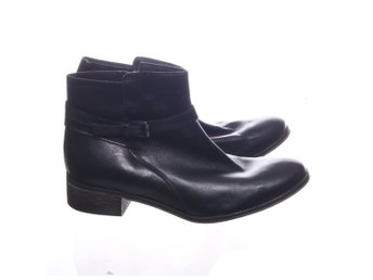 5th avenue, Boots, Strl: 42, Svart, Skinnimitation/Polyester