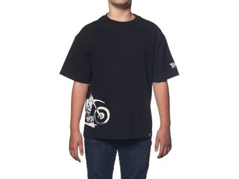 Thor MX Youth T-shirt Overspray Svart 4 år (REA 20%)