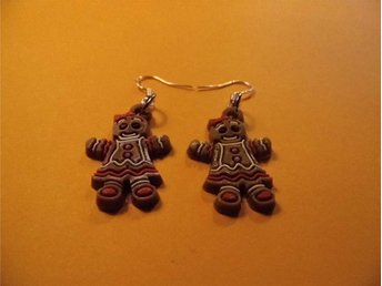 Pepparkaksgubbe örhängen / Gingerbread man earrings