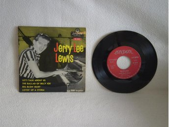 Jerry Lee Lewis   -   let,s Talk About Us  +  3                SVENSK EP..!!