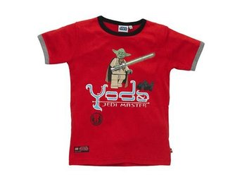 LEGO STAR WARS, T-SHIRT, YODA, RÖD (140)