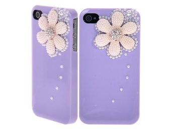 Snow Flower & Diamonds (Lila) iPhone 4/4S Skal