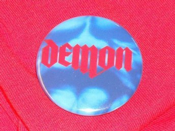 DEMON - 3,5 cm - Unexpected Guest - Badge / Pin / Knapp ( NWOBHM, Venom,)