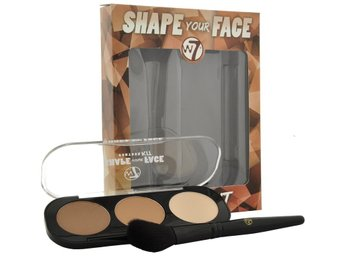 W7 Shape your face contour palette + Angled  Brush