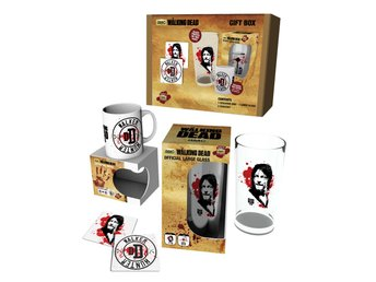 Gift Set - Glas, mugg, underlägg - The Walking Dead Daryl Set 2