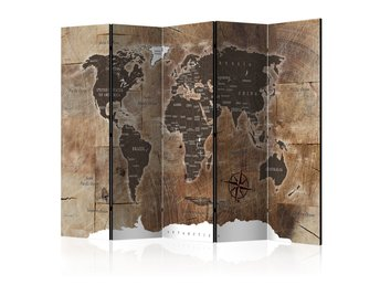 Rumsavdelare - Room divider – Map on the wood 225x172