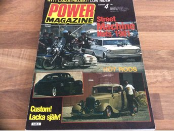 POWER nr 4 1981 HOT ROD,Honda 500 Chopper,shelby,Duett A traktor,jeep meet