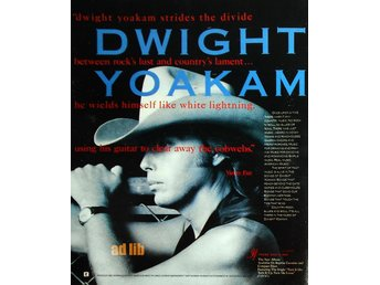 DWIGHT YOAKAM - REPRISE RECORDS, TIDNINGSANNONS 1990