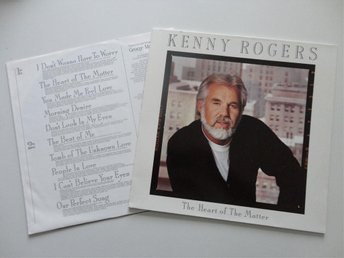 KENNY ROGERS: THE HEART OF THE MATTER. 1985. LP. GER 1ST ORIG.