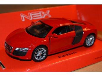 Audi R8 V10 1:38/1:36 Welly Nex Models (Pullback, dörrar) Röd Ny - Hässleholm - Audi R8 V10 1:38/1:36 Welly Nex Models (Pullback, dörrar) Röd Ny - Hässleholm