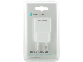 Smart Line Usb-laddare 100-240V 1 X USB 1.0A, vit
