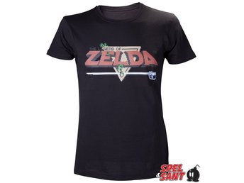 Nintendo The Legend of Zelda Oldschool T-Shirt Svart (Large)