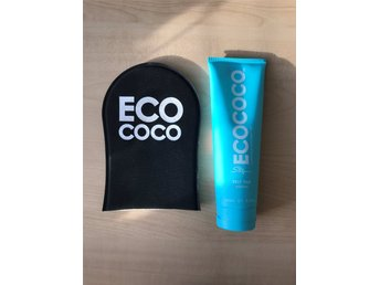 ECOCOCO Self tan medium brun utan sol med applikatorhandske
