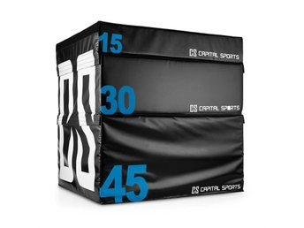 CAPITAL SPORTS Rookso set soft jump box plyo box 15 / 30 / 45 cm 3 stycken svart