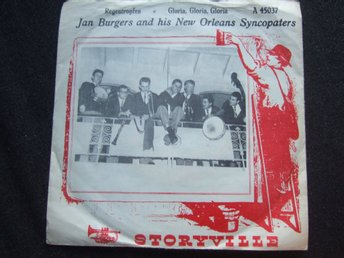 45 - JAN BURGERS & HIS NEW ORLEANS SYNCOPATERS. Regentropfen/Gloria, Gloria 1962