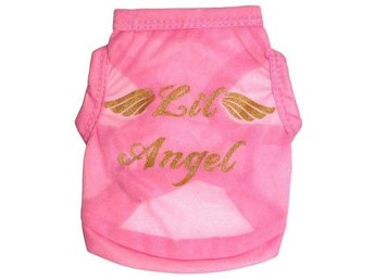 "Hund dress med text ""Lil Angel"""