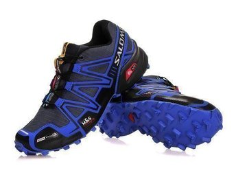 Mens Strl Eu 46 Salomon speedcross3 skor Dark grey with blue - Houston - Mens Strl Eu 46 Salomon speedcross3 skor Dark grey with blue - Houston