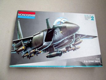 Strike Eagle F-15 Monogram Skala 1/72 Byggsats hobby Box 1991 5434 US Germany