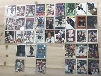 Mark Messier LOT! 38st hockeybilder Hockeykort samlarkort New York rangers