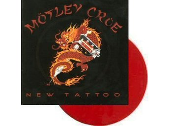 Mötley Crue -New tattoo LP red vinyl with 5 band pictures