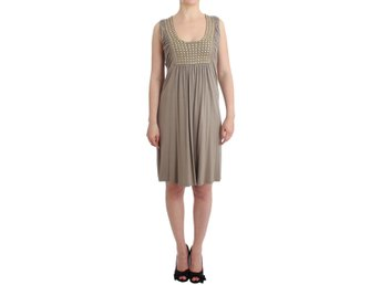 Roccobarocco - Khaki studded sheath dress