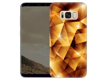 Samsung Galaxy S8 Plus Skal Golden Polygons