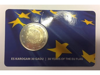 2 euro coin in Blister - 30 years of the EU flag - Latvia, 2015