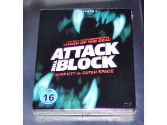 ATTACK THE BLOCK (Blu-Ray) Steelbook Edition (2011) (Alien!) John Boyega (Star W