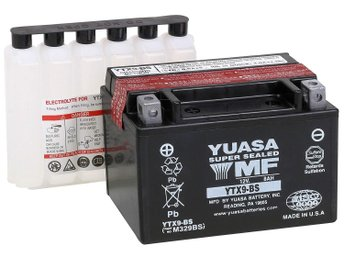 Nytt Yuasa mc/snöskoter batteri - YTX9-BS - AGM Battery Comback