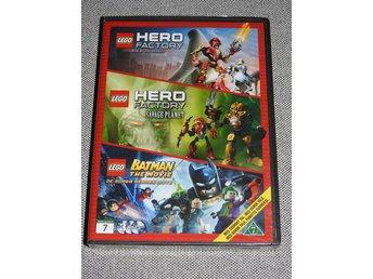 Lego Hero Factory Rise of the Rookies / Savage Planet / Batman The Movie DVD
