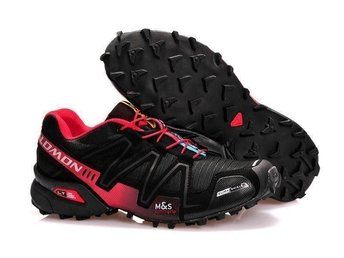 Mens Strl Eu 41 Salomon speedcross3 skor black with red - Houston - Mens Strl Eu 41 Salomon speedcross3 skor black with red - Houston