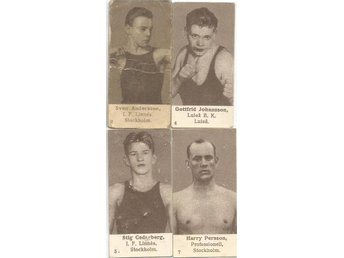 Kanold boxning 2 S.Andersson,4 G.Johansson, 5 S.Cederberg 7 Harry Persson