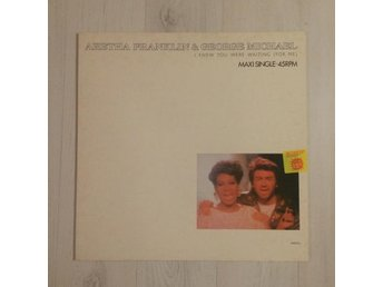 "ARETHA FRANKLIN & GEORGE MICHAEL - I KNEW YOU WERE WAITING. (NEAR MINT 12"")"