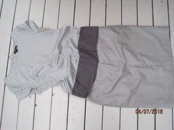 Ljus grå silkig topp/bluse pennkjol HM/Gina 38 - Uppsala - Ljus grå silkig topp/bluse pennkjol HM/Gina 38 - Uppsala