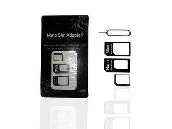 Nano till Sim adapter 2 adaptrar Microsim adapter - Arlöv - Nano till Sim adapter 2 adaptrar Microsim adapter - Arlöv