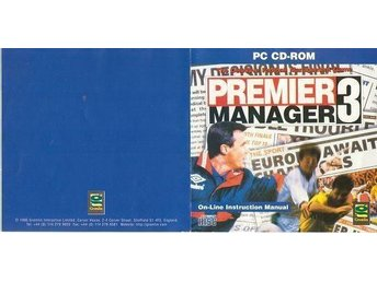 Premier Manager3 CD-spel för Windows