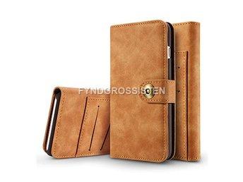 Läder Flip Plånbok Magnetisk 2 i 1 Fodral iPhone 5 5S SE - Khaki Fri Frakt 579bd9b6ba484