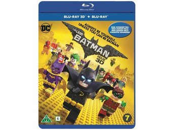 THE LEGO BATMAN MOVIE. NY OCH INPLASTAD PÅ BLU-RAY 3D + BLU-RAY