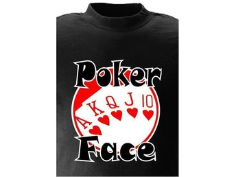 T-SHIRT Poker Face nr 62  Svart   Medium