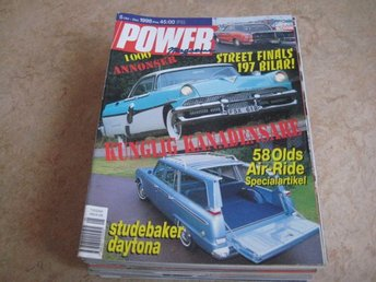 POWER NR 5 1998.     BUICK CUSTOM ROADSTER -58,STUDEBAKER DAYTONA, M.M
